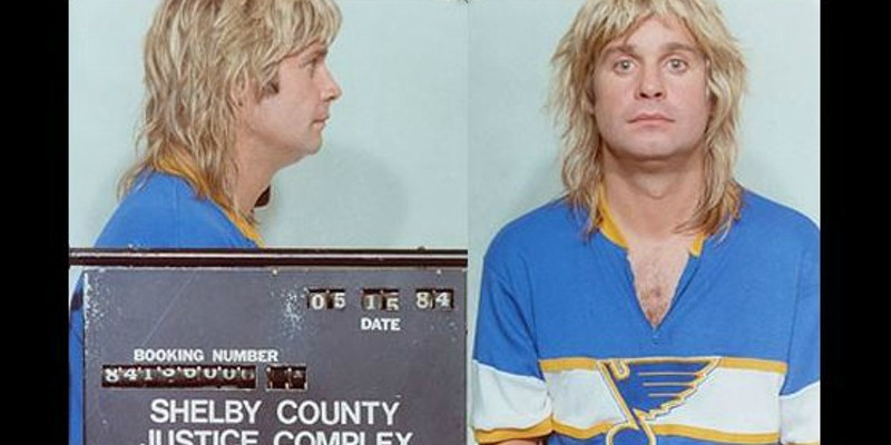 The Real Story Behind That Ozzy Osbourne Blues Jersey Mugshot | Arts