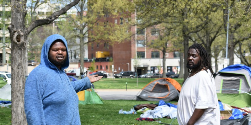 Homeless Refuse To Leave St Louis Camp Despite 4 A M Police Visit News Blog The last book on the left signed edition. homeless refuse to leave st louis camp
