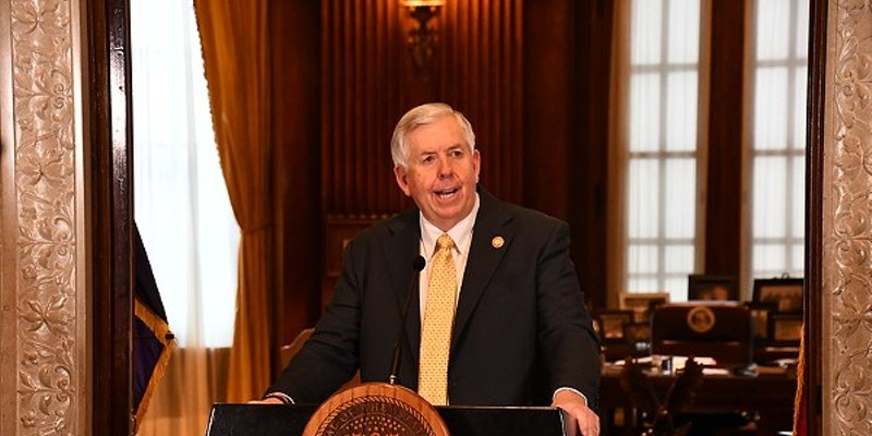 Mike Parson, Governor of the state that recently ranked last in the nation for vaccine rollout.