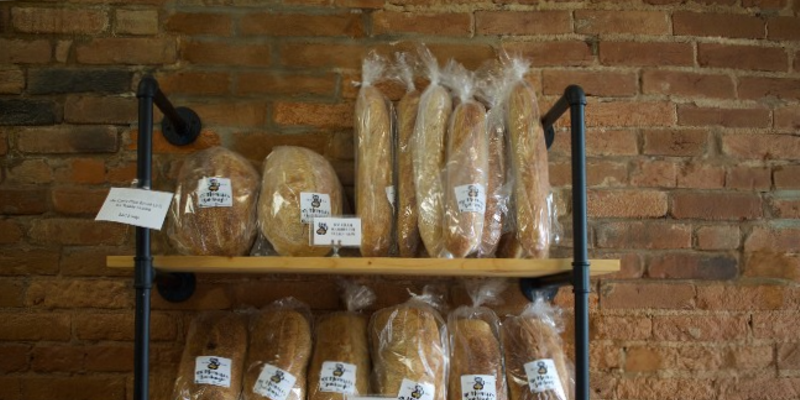Mr. Meowski's serves three different types of sourdough bread: Rounds, sandwich loaves and baguettes.