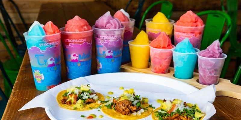 Taco Circus and Trops join forces for a lively Tex-Mex-slushie experience this Spring in the Grove.
