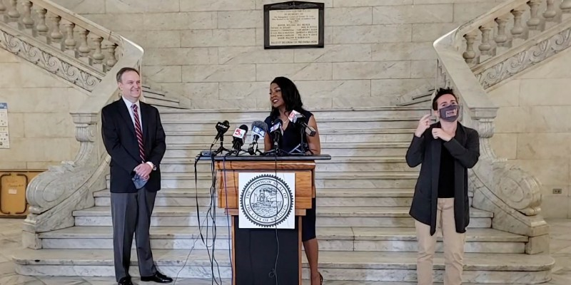 St. Louis County Executive Sam Page and St. Louis Mayor Tishaura Jones announced the end of mask mandates for vaccinated people.