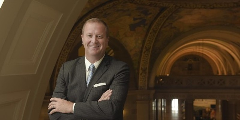 Missouri Attorney General Eric Schmitt takes a break from chasing lawsuits in other states.