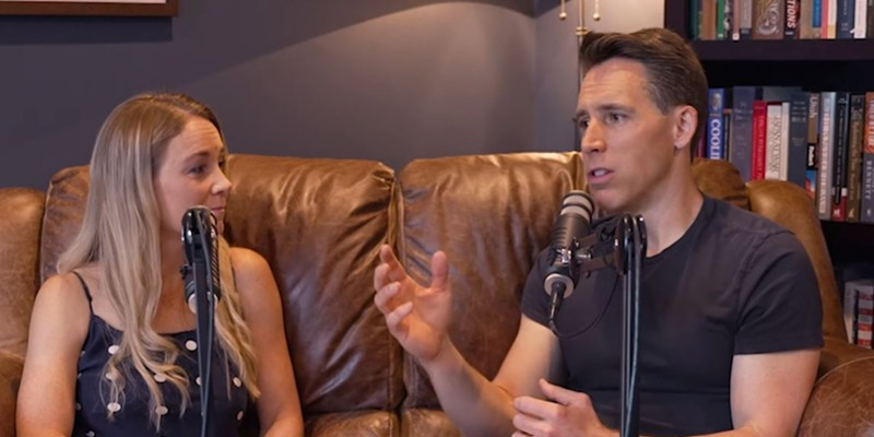 Here's Josh Hawley and his wife, laying down what is surely one of the worst podcasts in history.