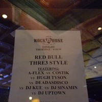Red Bull Thre3style at Old Rock House The lineup for the night's competition. Jon Gitchoff