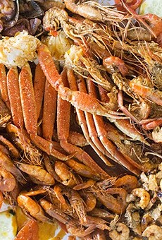 Mariscos el Gato is know for its massive seafood feasts.