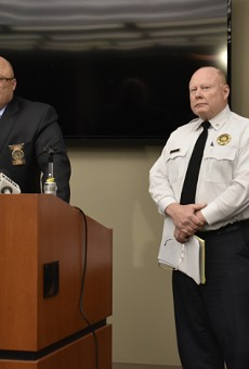 Lt. John Green and interim Chief Lawrence O'Toole brief the media on four recent homicides.