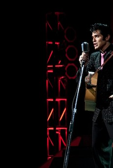 Not the actual Elvis impersonator who'll be performing at Das Bevo .... but maybe close enough?