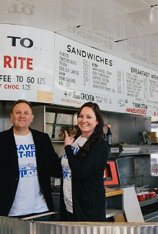 Joel and Shawna Holtman inside Eat-Rite Diner.