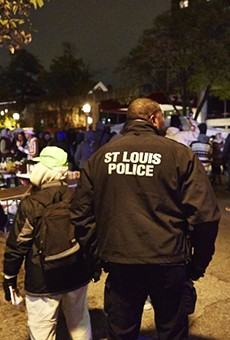 Police on patrol in St. Louis.