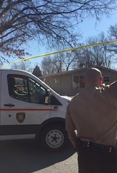 St. Louis County police blocked off a Glasgow Village neighborhood after a gun battle.