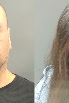 Alleged brisket thieves Darin Nosser and Suzanne Kvernplassen.