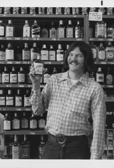 Bruce Cole in a liquor store, circa 1976.