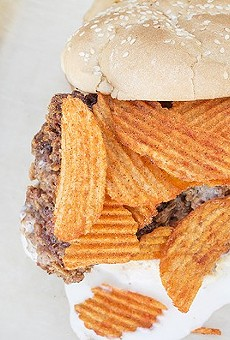 """Chef Bob Brazell's """"Motherclucker"""" demonstrates a great use of Red Hot Riplets: atop a sandwich."""