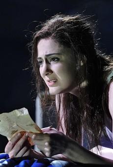 The agony of Violetta (Sydney Mancasola) is the audience's ecstasy in Opera Theatre St. Louis' La Traviata.