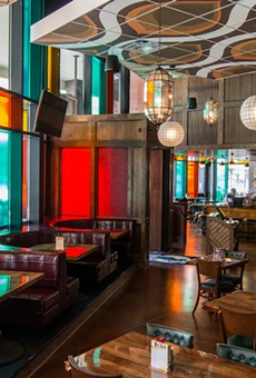 """""""We don't do cookie-cutter designs,"""" HopCat's Chris Knape promises. Above, the chain's Minneapolis eatery."""