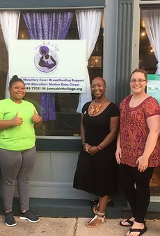 """Yvonne Smith, Noni Rogers Boyd, Brittany """"Tru"""" Kellman, Haley Manning and Madyson Winn have big plans for Jamaa Birth Village. But they need money to achieve them."""