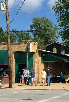 Gioia's Deli is normally closed Sundays. Yesterday, it drew a line that stretched out the door.