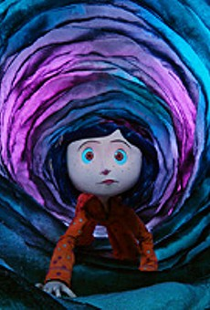 Coraline (voiced by Dakota Fanning) ventures deep into the rabbit hole of Selick and Gaiman's boundless imaginations.