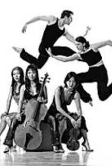 Above: Members of Parsons Dance Company. Below:      The Ahn Trio.