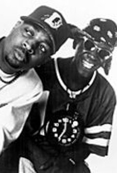 Constructive and insurgent: Chuck D and Flavor Flav      of Public Enemy.