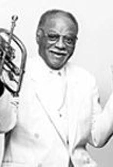 Clark Terry, ever young at Jazz at the Bistro