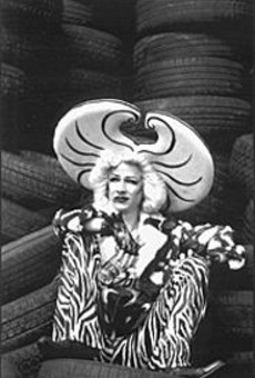 John Cameron Mitchell (pictured here in character) hasn't simply filmed his play; he's completely reconfigured Hedwig for the screen.