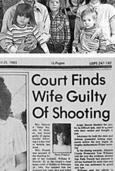 Top: Bill and Patty Prewitt with their five children in      1979. Six years later Patty was convicted of murdering      Bill in his bed while the kids slept nearby. She is      serving a life sentence at the state womens prison in      Vandalia.