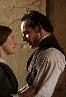 A place for us: Mia Wasikowska and Michael Fassbender as Jane Eyre and Mr. Rochester.