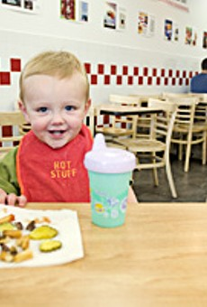 Oh, baby: Five Guys Burgers and Fries is already making a big impression on the area.