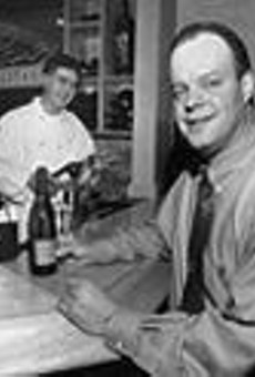 Owner Larry Fuse Jr. (left) and manager Joe Dougherty, of Lorenzo's Trattoria, present a style that falls in the somewhat neglected middle ground, for the Hill, between mama-and-papa spaghetti house and jacket-and-tie white linen.