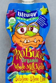 Probugs Organic Whole Milk Kefir Cultured Milk Sublime Slime Lime With Other Natural Flavors