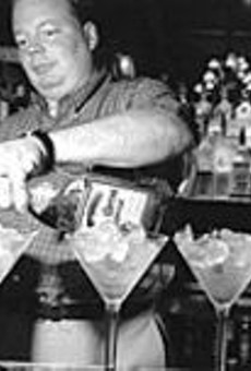 The excellent Warren tends to the Pepper Lounge & Eatery's Guam-sized libations.