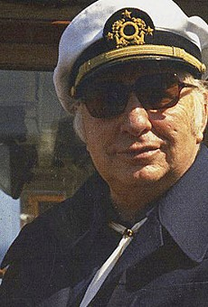 Scientology founder L. Ron Hubbard sets sail with the Sea Org.