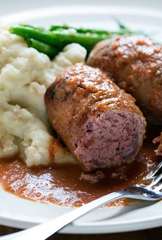 """Tripel's """"Blinde Vinken,"""" or ''blind finches,"""" brings veal stuffed with beef farce in a light tomato sauce. See also: Step inside Tripel with our photo gallery"""