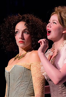 Maggie Conroy and Julia Crump in St. Louis Shakespeare's The Comedy of Errors.