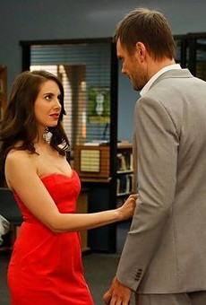 Alison Brie and Joel McHale in Community.
