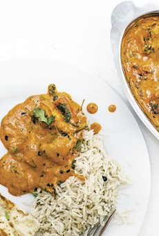 Chicken tikka masala is tandoori chicken cubes simmered in fresh tomato sauce.                    See photos: India Palace Serves Delicious Indian Classics Downtown