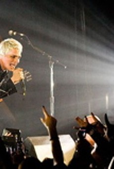 RFT freelancer Nichole Torpea didn't shoot this pic of lead singer Gerard Way in action at a My Chemical Romance concert.
