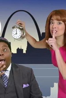 Keenan Thompson and Cecily Strong as Channel 4 morning hosts.