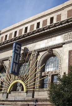 The Sun Theater before renovation, site of Landmarks Association's Most Enhanced Awards.
