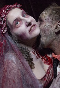 StephanieGreenhalgh and Justin Ethridge, sharing the wedding of their nightmares.