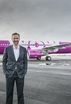 Skúli Mogensen, the founder and CEO of WOW air. His company is departing St. Louis' airport.