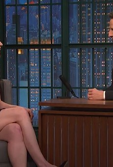 Ellie Kemper tells Seth Meyers why St. Louis loves Jon Hamm.