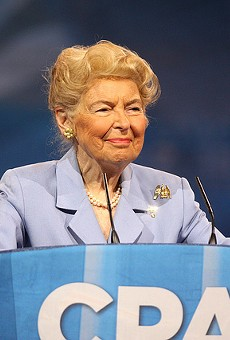 Phyllis Schlafly knows how to keep women from getting raped on college campuses: don't let them into college.