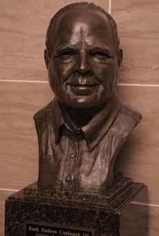 Rush's Limbaugh's gleaming and prominently displayed bust.