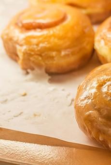 Cinnamon roll doughnuts at Pharaoh's Donuts.   Mabel Suen