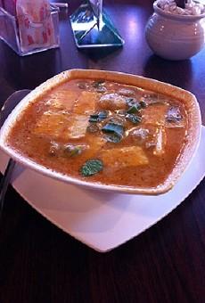 Tom kha soup at Pearl Cafe