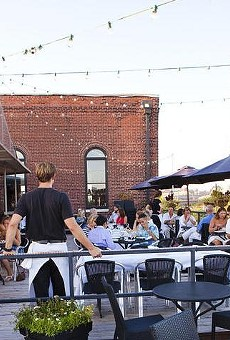The patio at Vin de Set, one of St. Louis' favorite spots for outdoor dining.