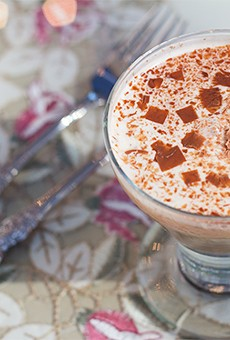 """Dilmah Coupe Caramel"" with Dilmah caramel tea, vanilla ice cream and chocolate flakes."